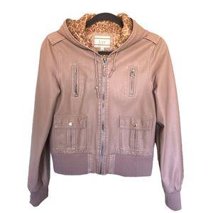 LUZ • 🔺Blush Pink Faux Leather Jacket